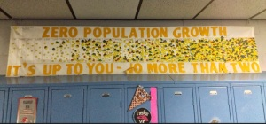 Banner at Northview High School in southern Indiana