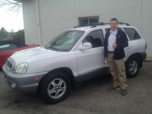My  16 year old son, Nick, with his first car...a 2003 Hyundai Santa Fe!