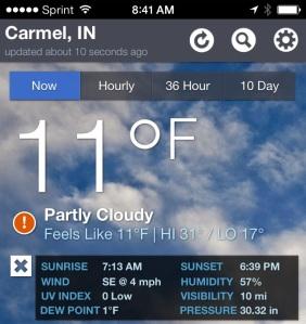 Today in Carmel, Indiana